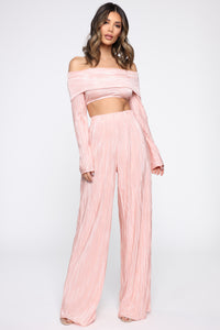 A Compleat Fit Pant Set - Blush Angle 2