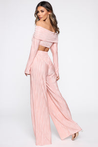 A Compleat Fit Pant Set - Blush Angle 5