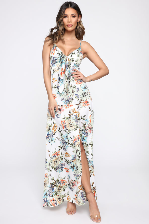 6bb9747e4744b Take Me To The Islands Floral Maxi Dress - Ivory Floral