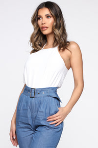 Brunch With Your Girls Bodysuit - Ivory Angle 4