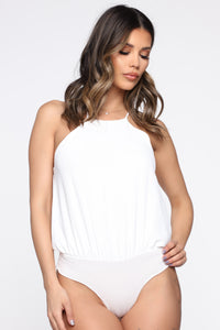 Brunch With Your Girls Bodysuit - Ivory Angle 1