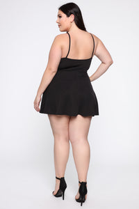 Make Me Smile Romper - Black