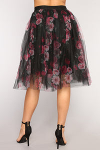 Natalia Tulle Skirt - Black