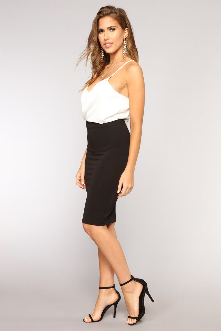 Riley Pencil Skirt - Black