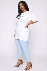Independent Women Tunic Top - White Angle 4