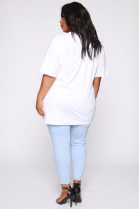 Independent Women Tunic Top - White Angle 5