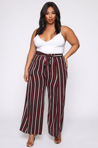 Press Play Striped Pants - Black Angle 1