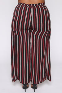 Press Play Striped Pants - Black Angle 6