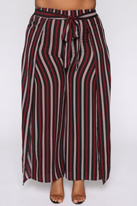 Press Play Striped Pants - Black Angle 2