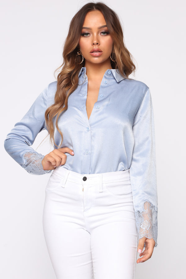 a63a24433 Haven Satin Top - Light Blue