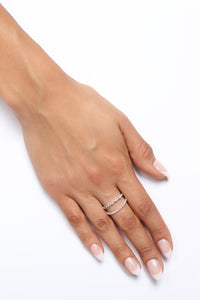 Double Trouble Ring - Silver