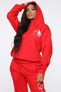 Stole Your Boyfriend's FN Hoodie - Red