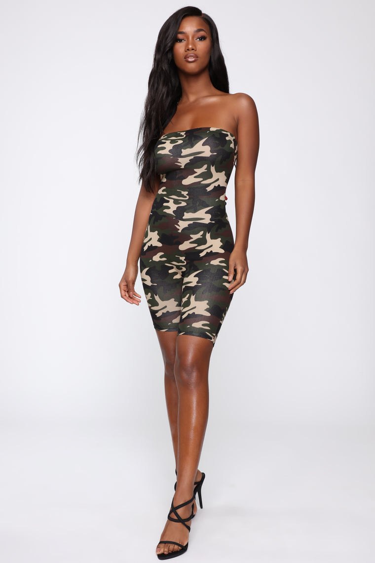 On Command Camo Romper - Olive