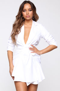 Business Calls Blazer - White Angle 1