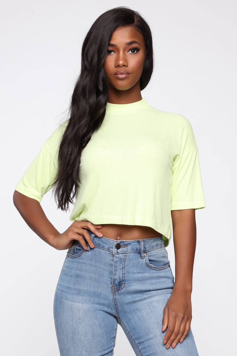 Always Remember Me Top - Neon Lime