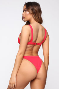 A Little Less Shade 2 Piece Swimsuit - Red Angle 4