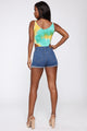 Forget About Him Tie Dye Bodysuit - Green/Combo