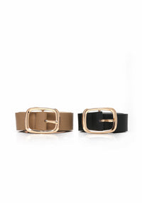 Essential Basic Belt Set - Black/Taupe