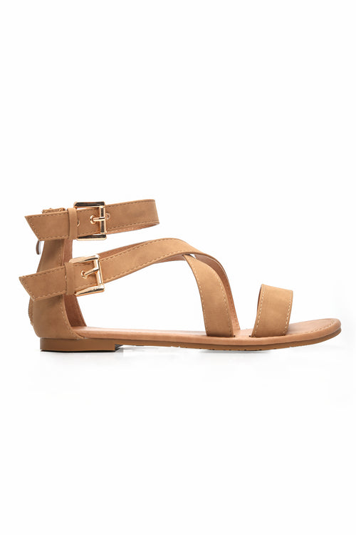 No Hiding Sandal - Tan
