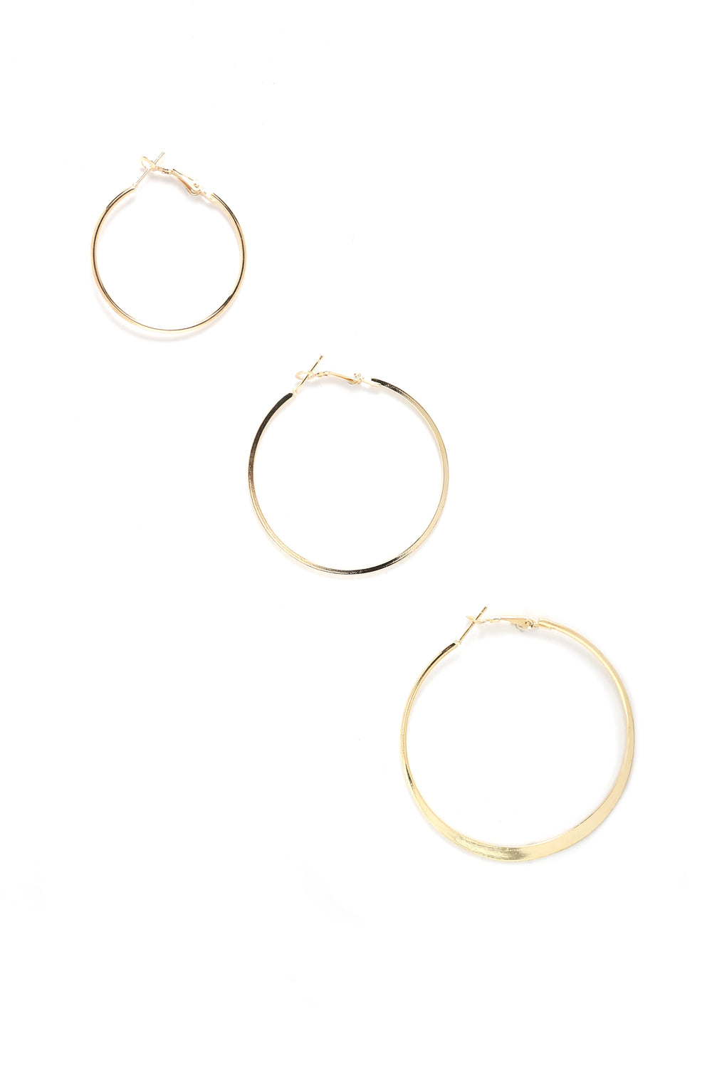 Silvia Hoop Earring Set - Gold
