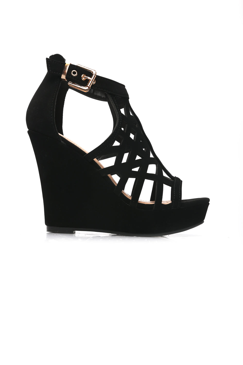 Shadow Heart Wedges - Black