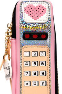 Hotline Bling Clutch - Pink Multi