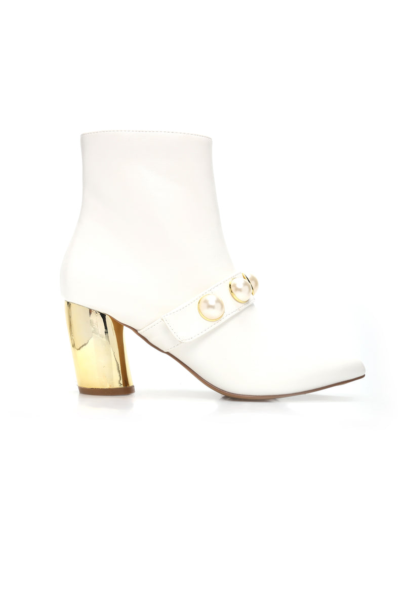 Teach You To Dream Bootie - White