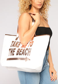 Summer Time Beach Tote - Rosegold