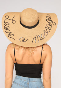 Leave A Message Sun Hat - Tan