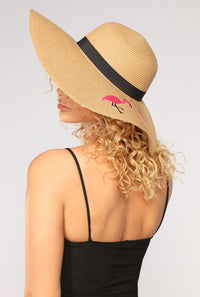 Justine Straw Sun Hat - Tan