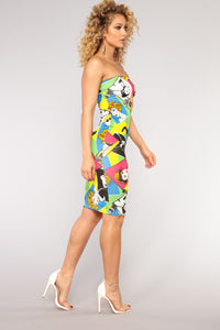 Magazine Cover Tube Dress - Multi