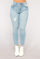 Francine Ankle Jeans - Light Blue Wash