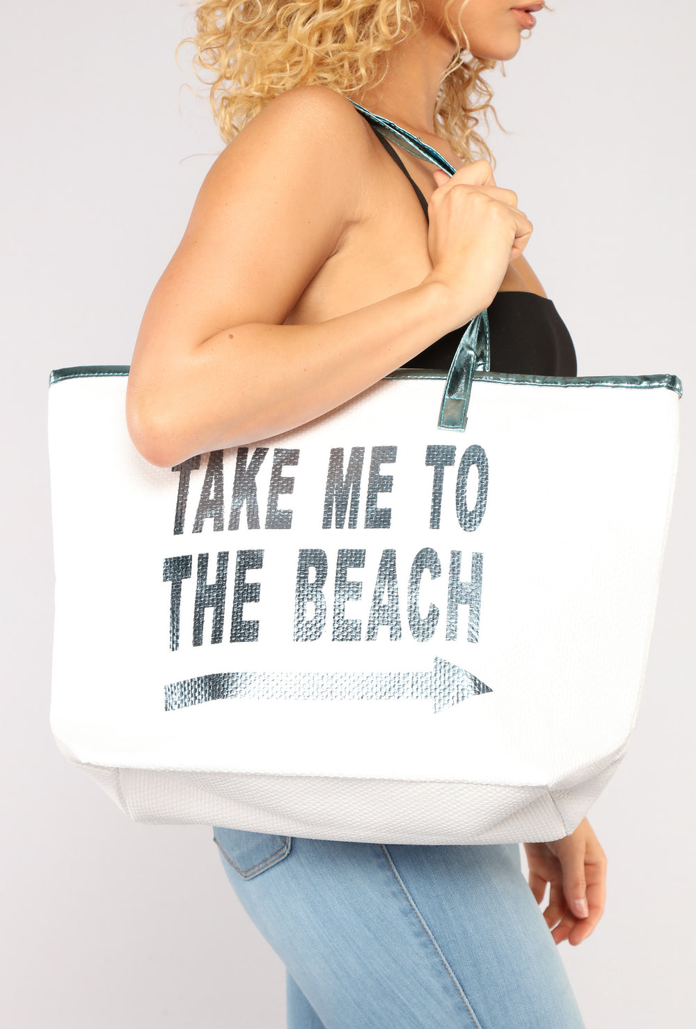 Summer Time Beach Tote - Blue