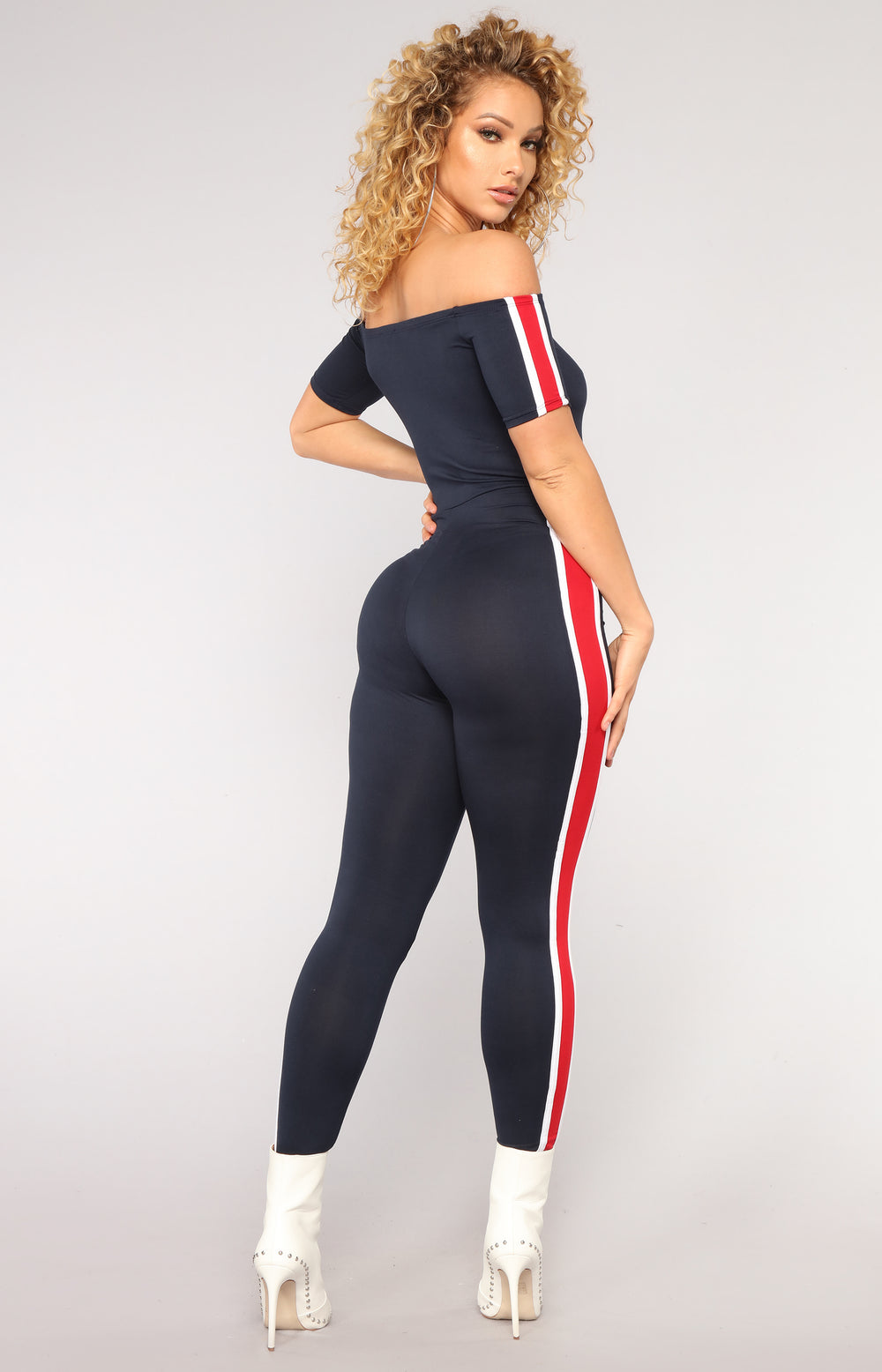 Ridin' Round Jumpsuit - Navy
