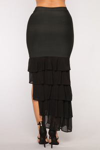 Evita Ruffle Skirt - Black