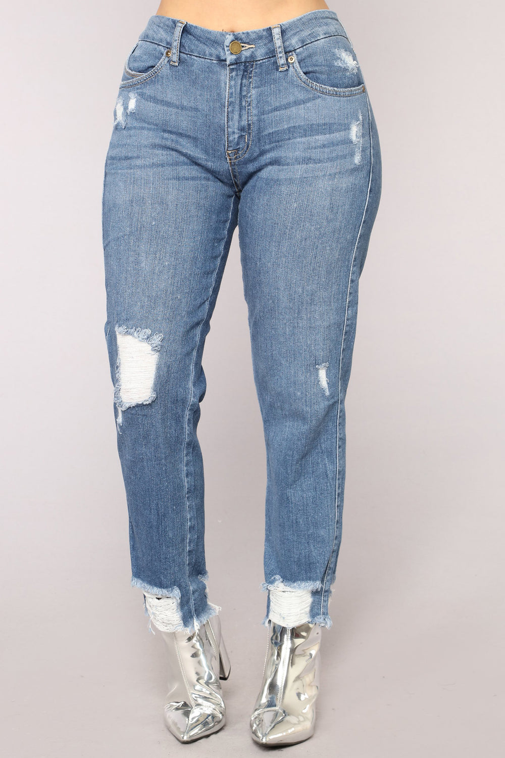 Misty High Rise Jeans - Medium Blue Wash