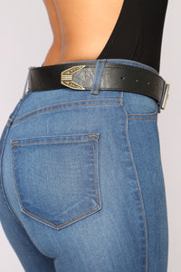 Delilah Western Belt - Black/Bronze