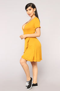Prairie Wind Dress - Mustard