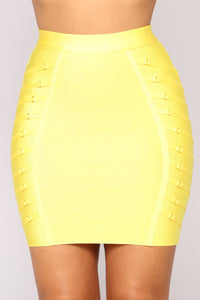 Chasing Material Things Skirt - Yellow