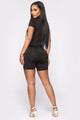 Show Me The Money Biker Short Romper - Black