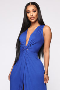 Zaira Knot Dress - Royal
