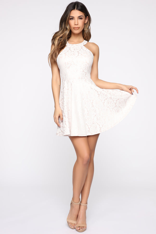 13084f6502 Full Of Wit Lace Dress - Ivory