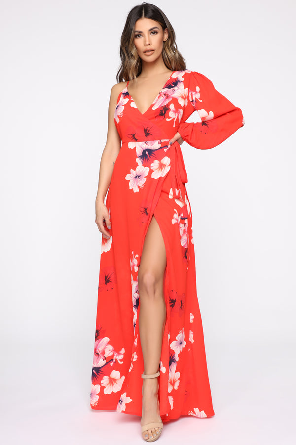 ad07a1c2c6a A Hand In Glory Floral Maxi Dress - Red