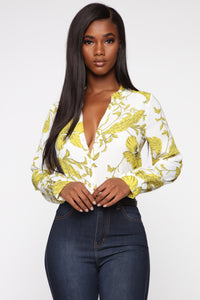Floral Emotions Top -Yellow/Combo