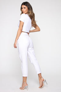 Woman Power Top - White