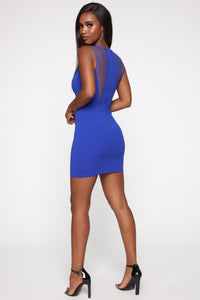 Work It In All Directions Mini Dress - Royal