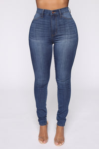 Emma Super Stretch High Rise Skinny Jean - Medium Wash Angle 2