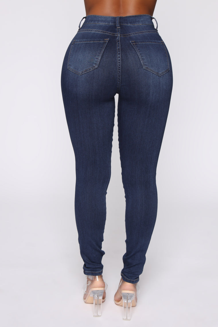 Emma Super Stretch High Rise Skinny Jean - DarkDenim