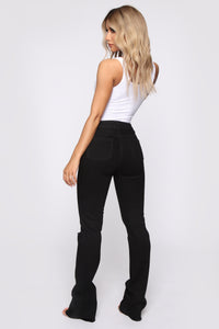 Fool For You Boot Cut Jeans - Black