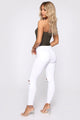 Knee Breeze High Rise Jeans - White